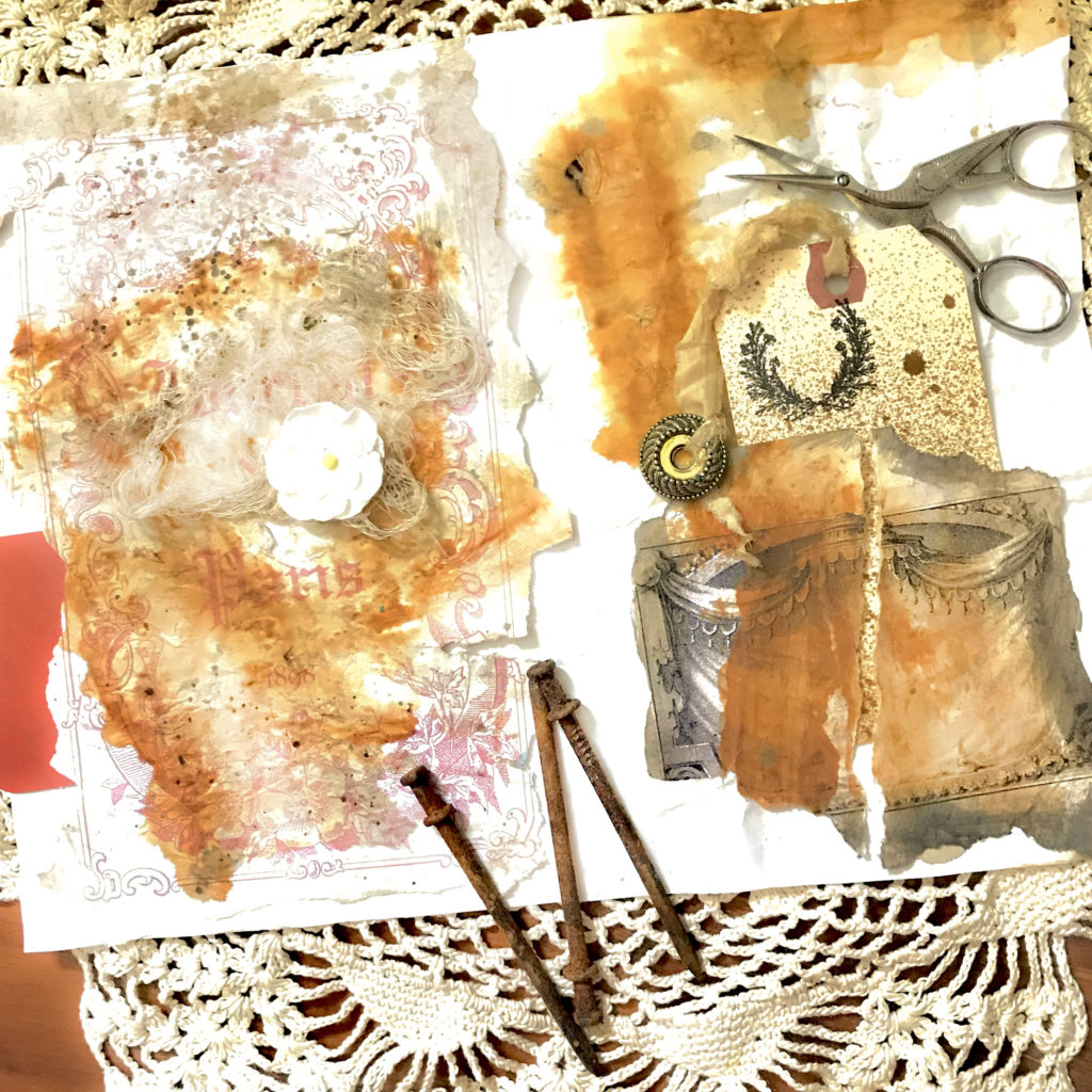 Rusting Paper in Junk Journal