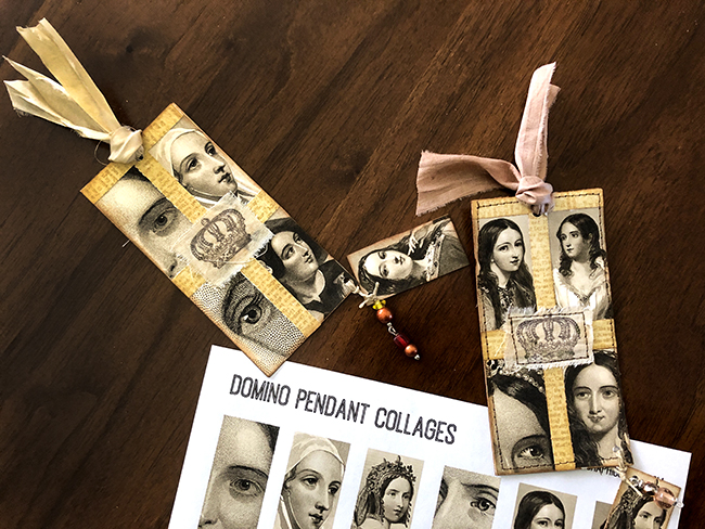 Shakespearean Women Tags from Domino Collage Sheets