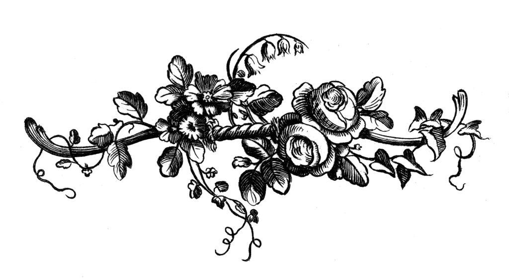 French Roses Spray