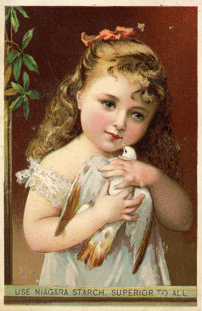 Girl with Dove Image