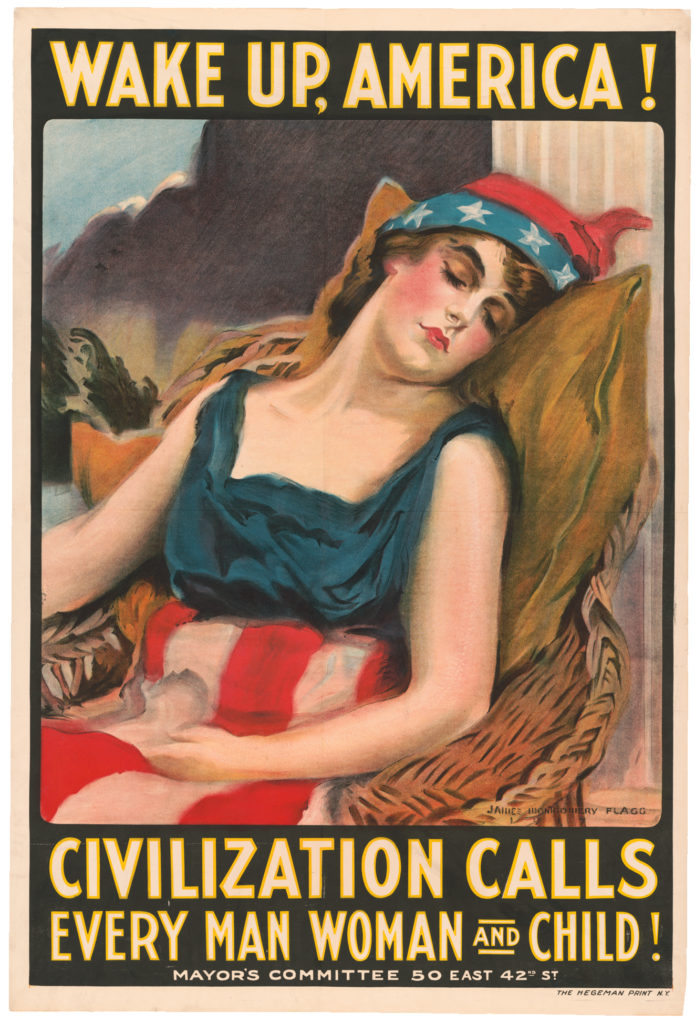 Lady Liberty Patriotic Poster