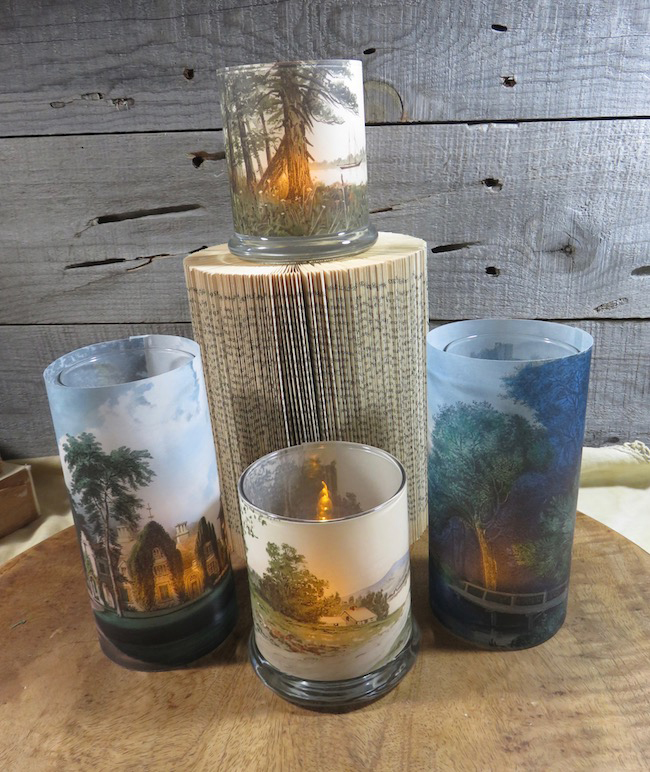 Vellum Wrapped Candles