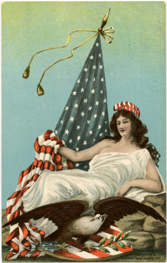 Patriotic Lady Liberty Image