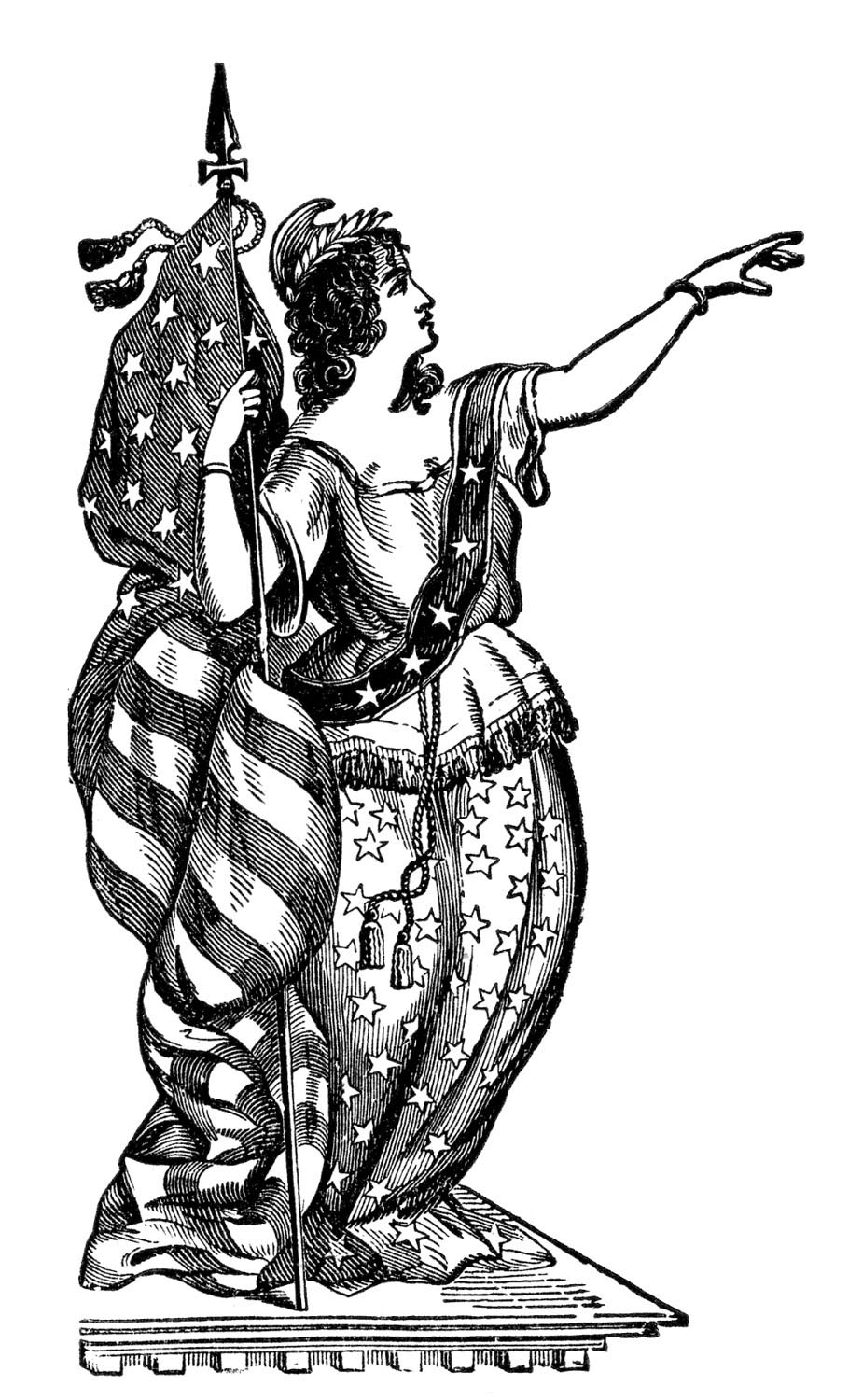 Lady Liberty Clip Art
