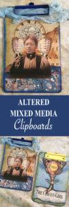 Altered Mixed Media Clipboard Pin