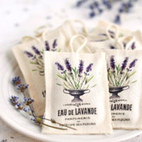 French Lavender Sachets on a plate