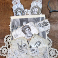 Lacy Junk Journal Starter TGF feature Page