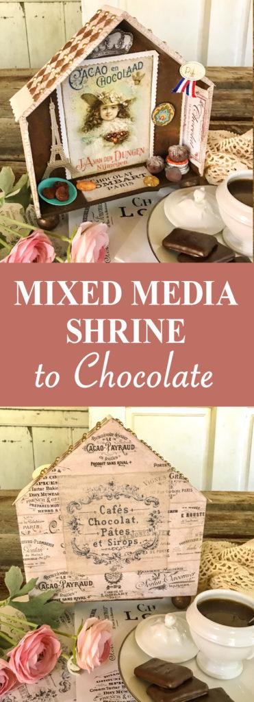 Mixed Media Shrine to Chocolate Pin