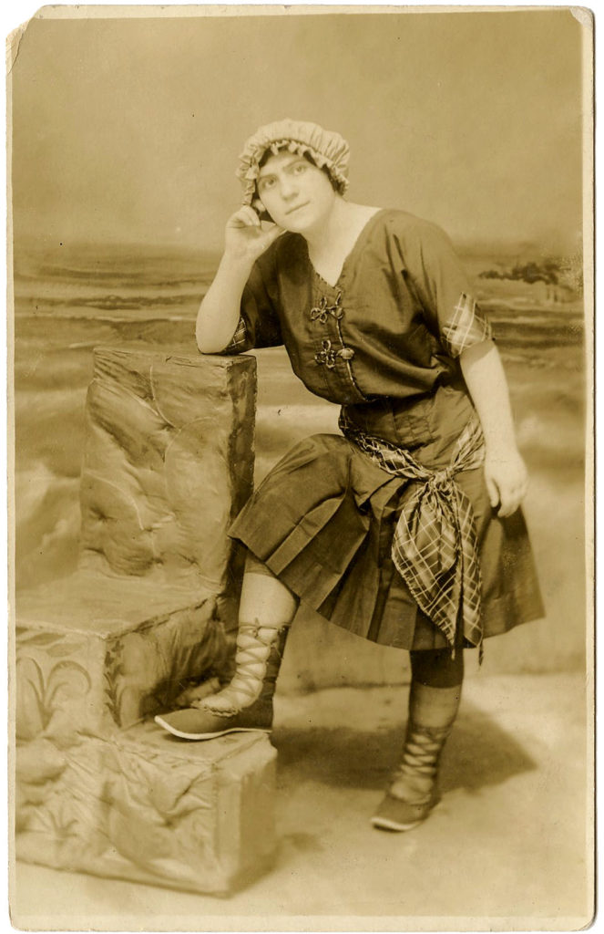 Vintage Bathing Suit Lady