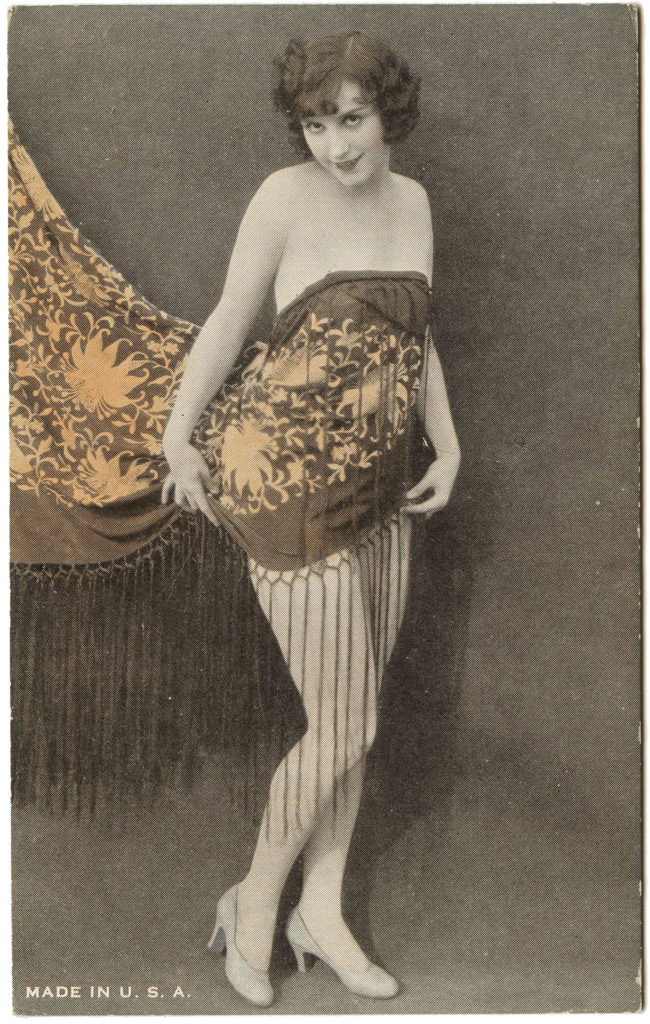 Vintage Burlesque Dancer Image