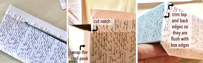 Cut roof papers