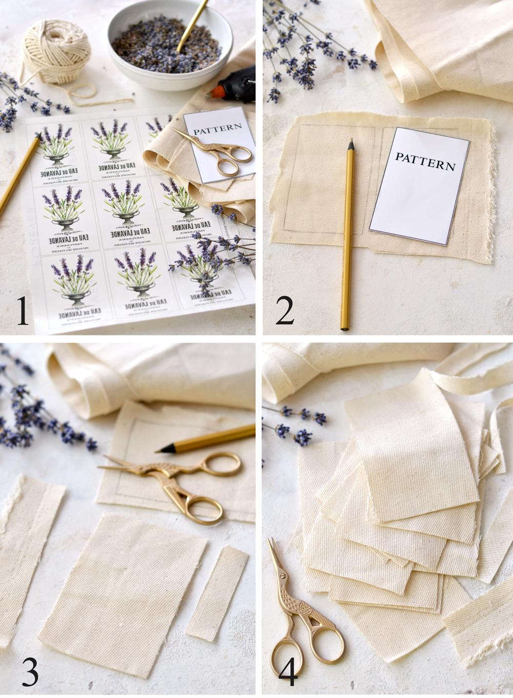 Instructions for Lavender Sachets