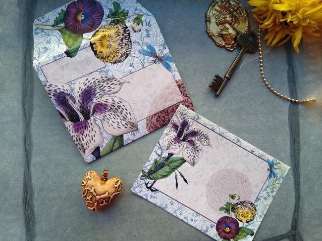 Floral Mail Art envelopes