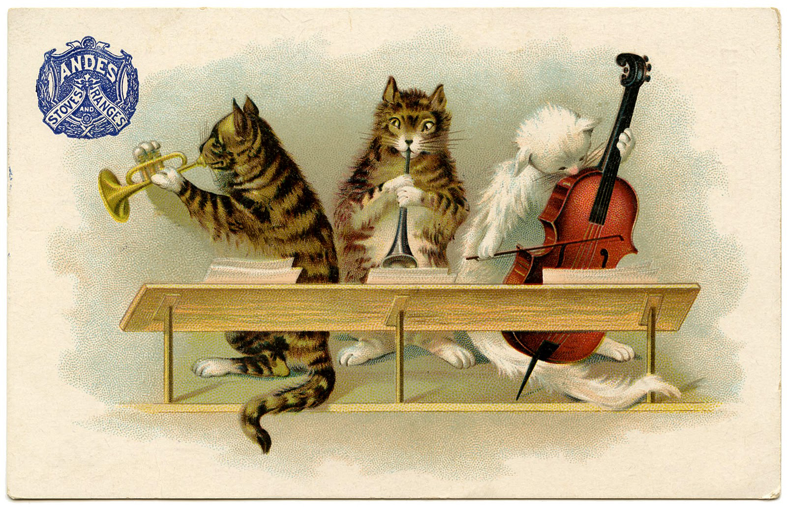 music+cats+vintage+Image+GraphicsFairy008b