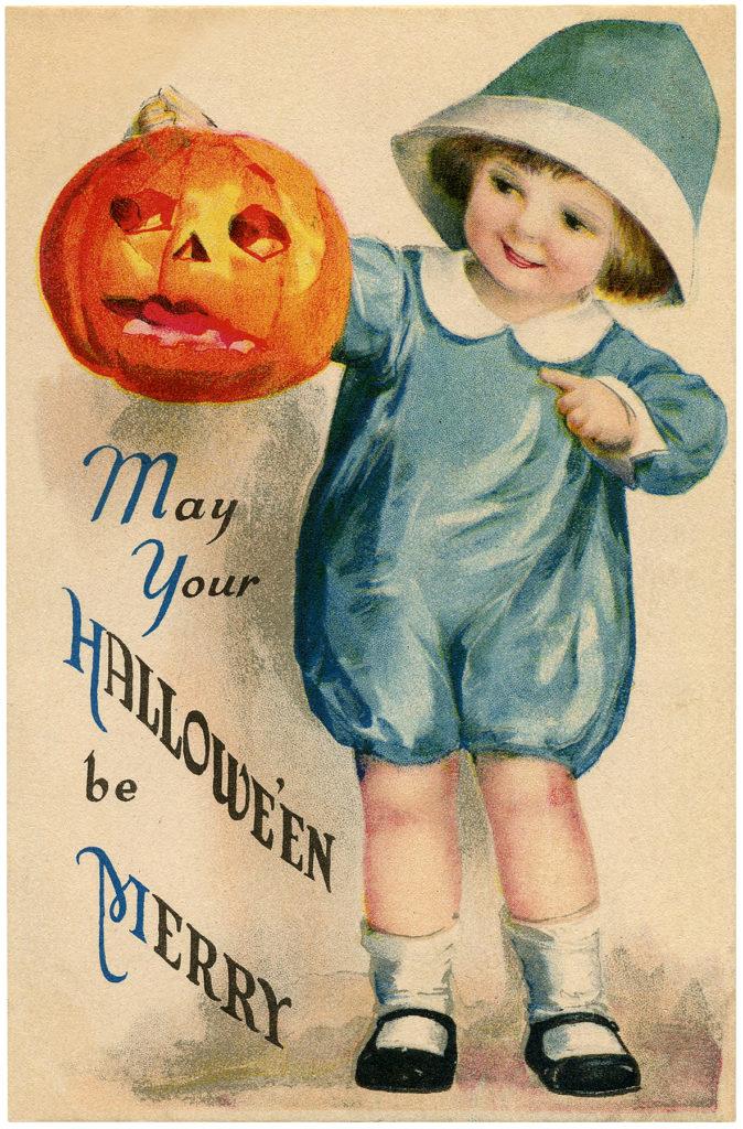 halloween girl pumpkin image