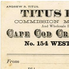 Cape Cod Cranberries invoice