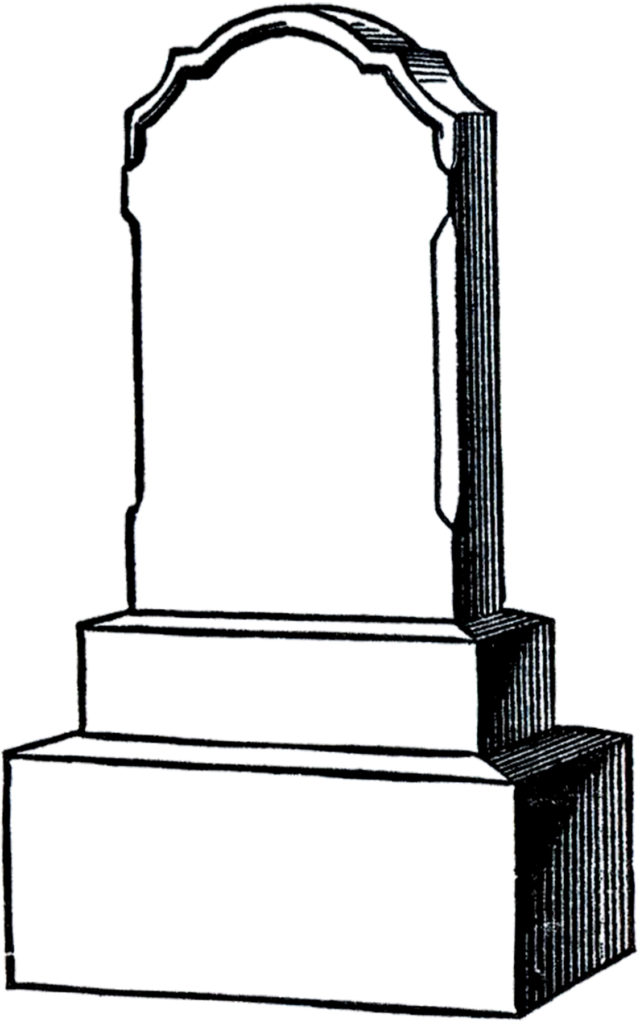 gravestone black white clipart