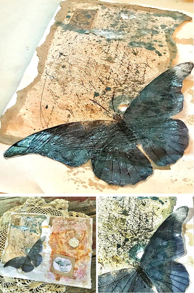Junk Journal Gel Butterfly Hero
