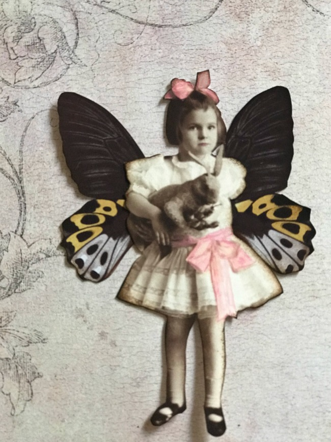 Little Girl with Butterfly Wings