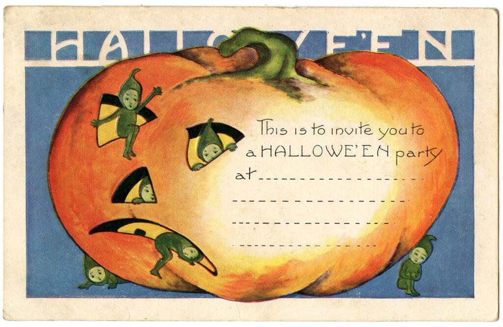 Halloween Pumpkin Elves Image