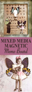 Mixed Media Magnetic Memo Board Pin