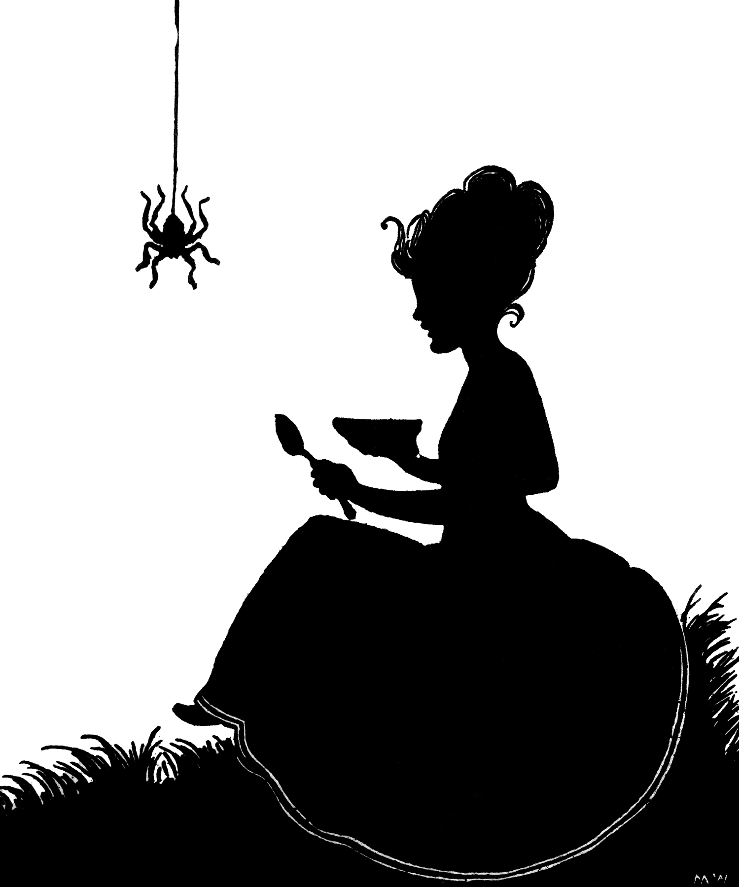 Spider black and white halloween spider web clipart - WikiClipArt
