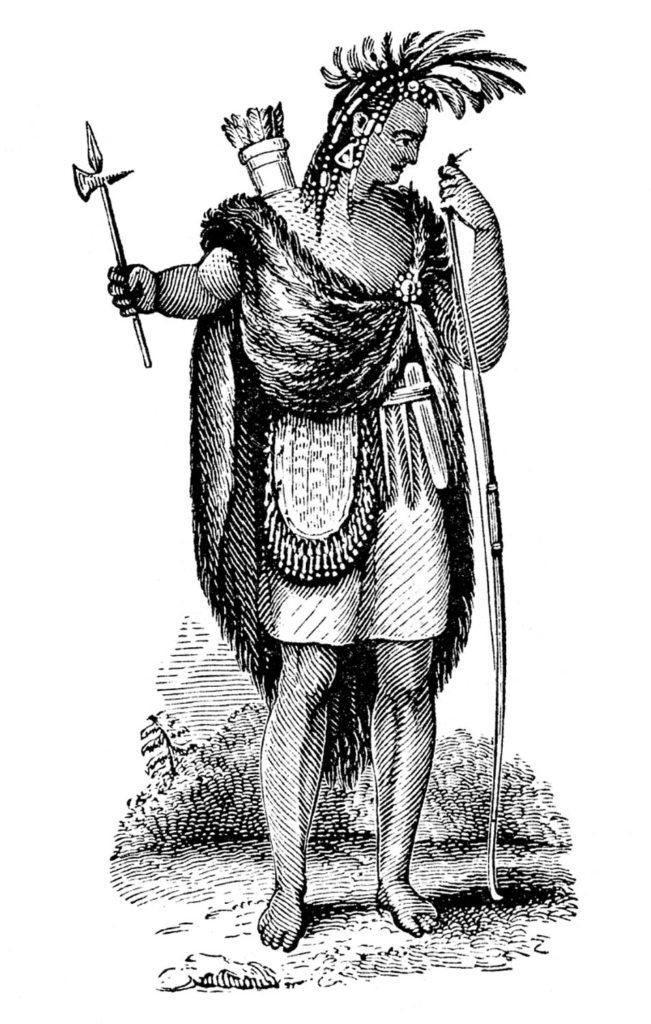 native american man huntsman image
