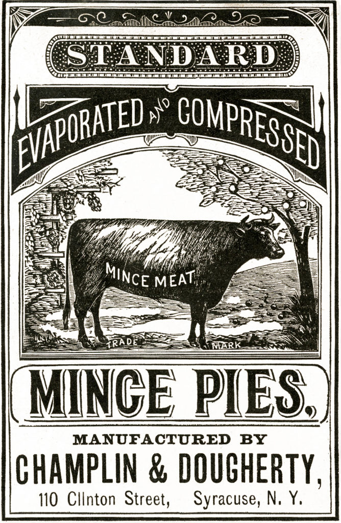 old advertising cow typography image
