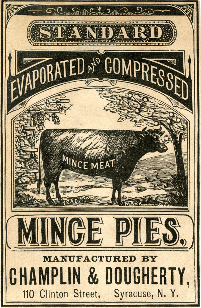 vintage ad cow sepia graphic