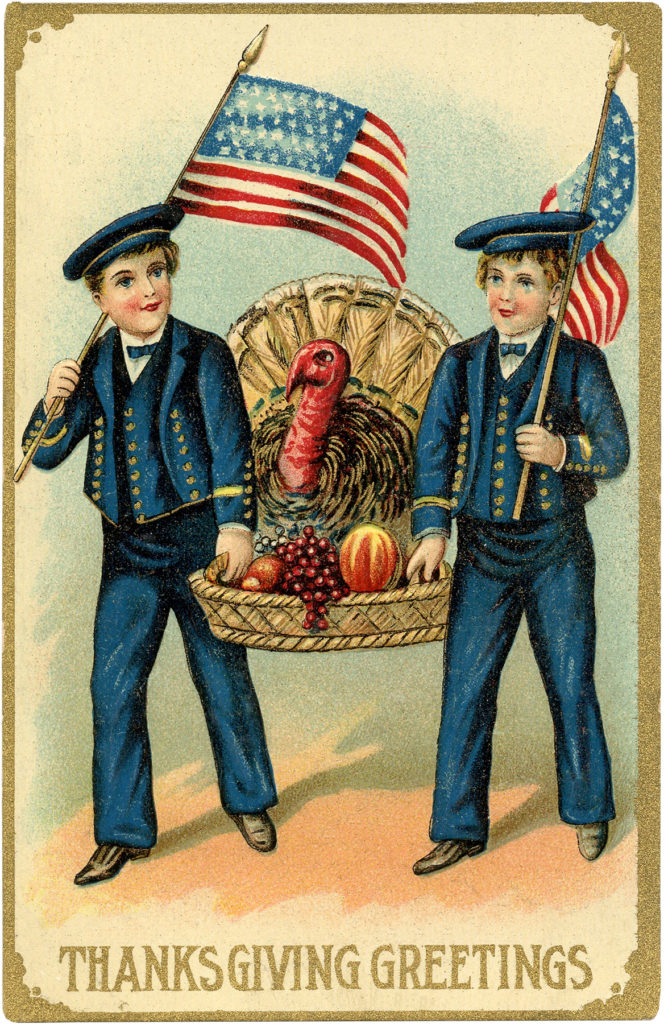 Turkey Flag Sailors Illustration