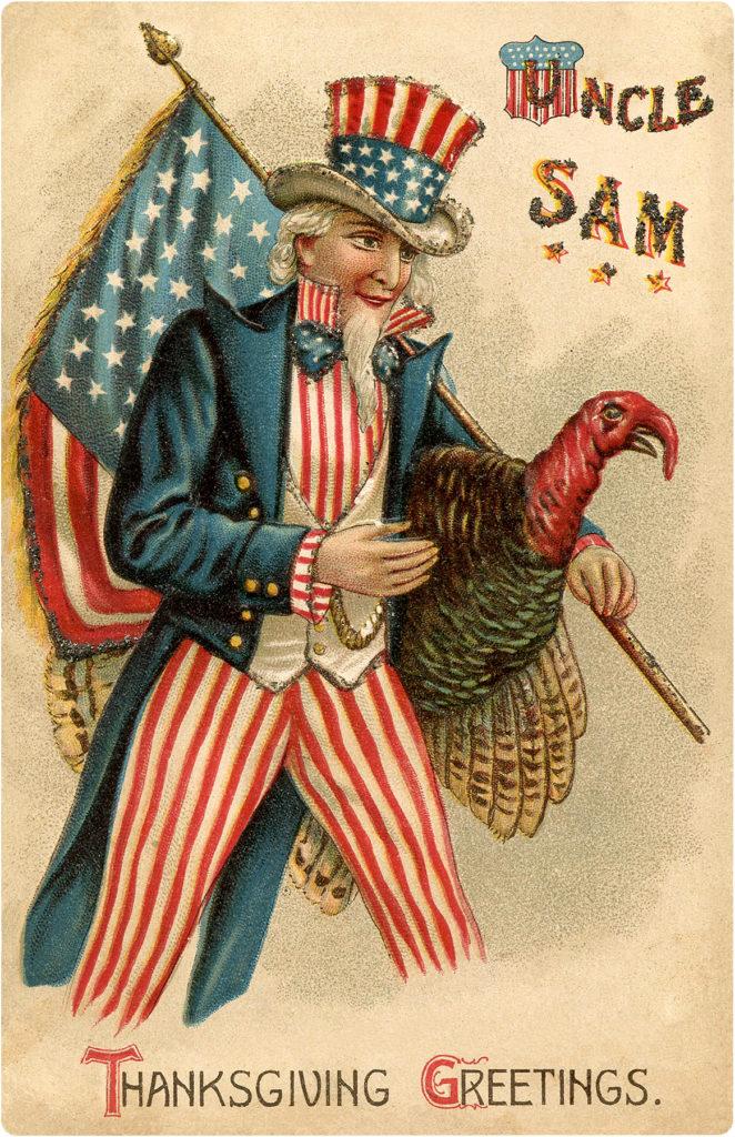 Patriotic Thanksgiving Clipart Uncle Sam