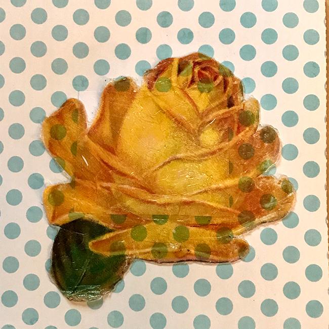 Rose on Polka Dot Card