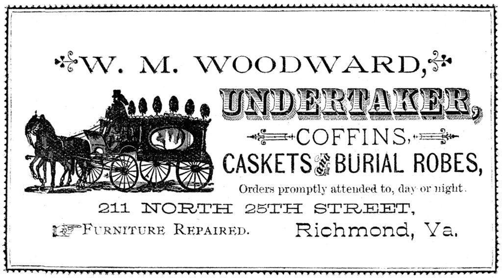 vintage casket coffin ad image