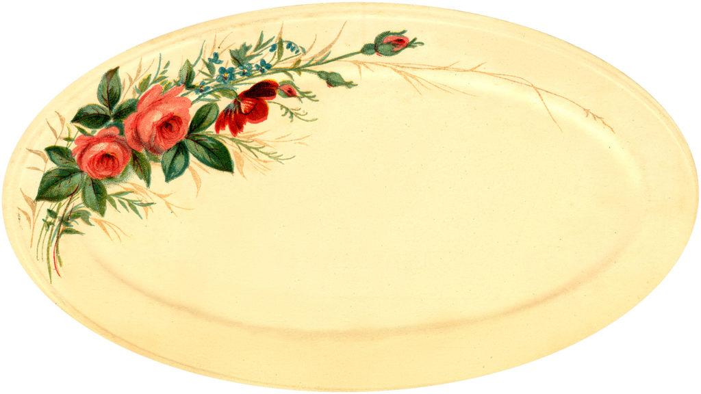 vintage china rose platter image