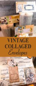 Vintage Collaged Envelopes Pin