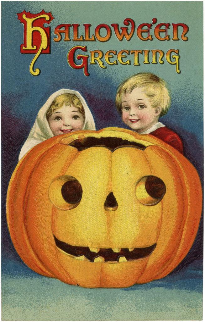 jackolantern kids halloween illustration