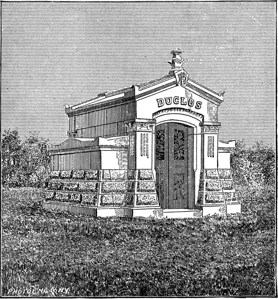 vintage mausoleum clip art