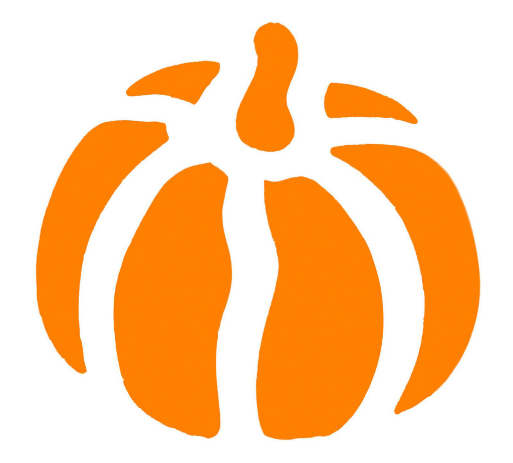 orange pumpkin stencil clipart