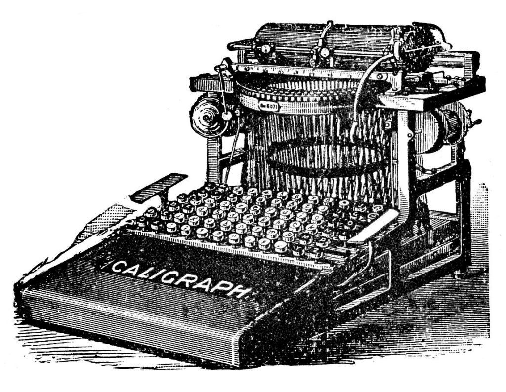 Vintage Typewriter Image Caligraph