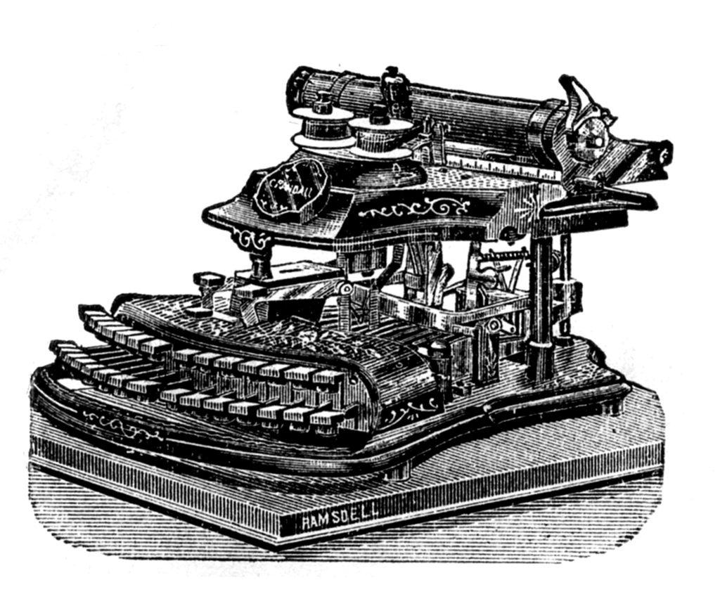 Vintage Typewriter Picture Ramsdell