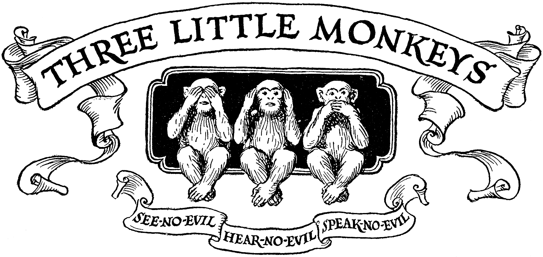 6 Monkey Images Vintage The Graphics Fairy