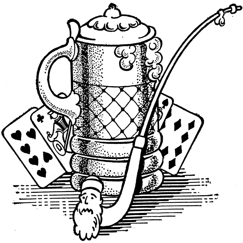 beer stein cards pipe clip art