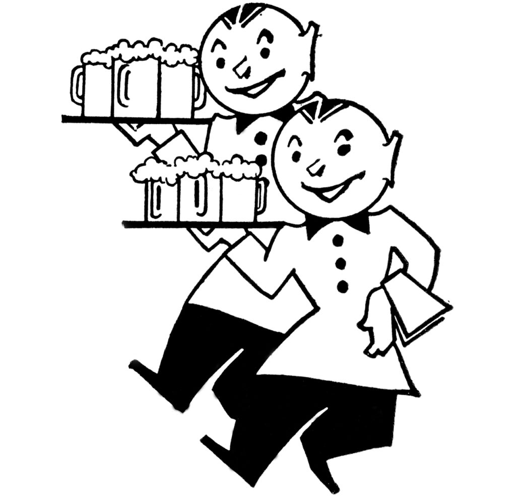 beer waiters clipart