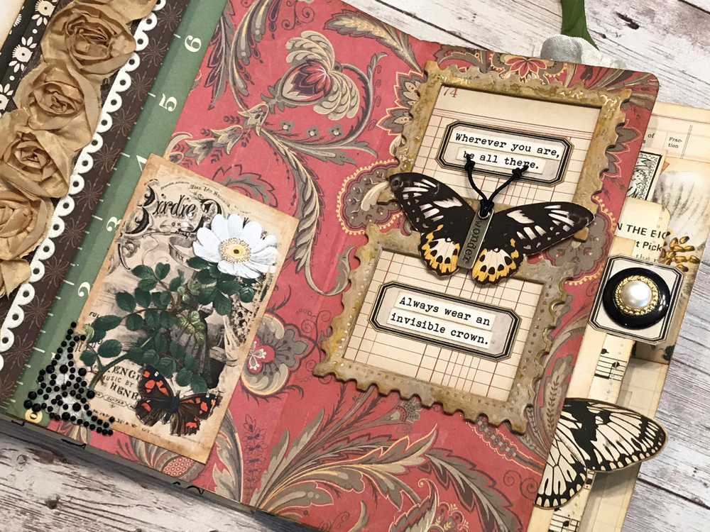 Butterfly Junk Journal Page