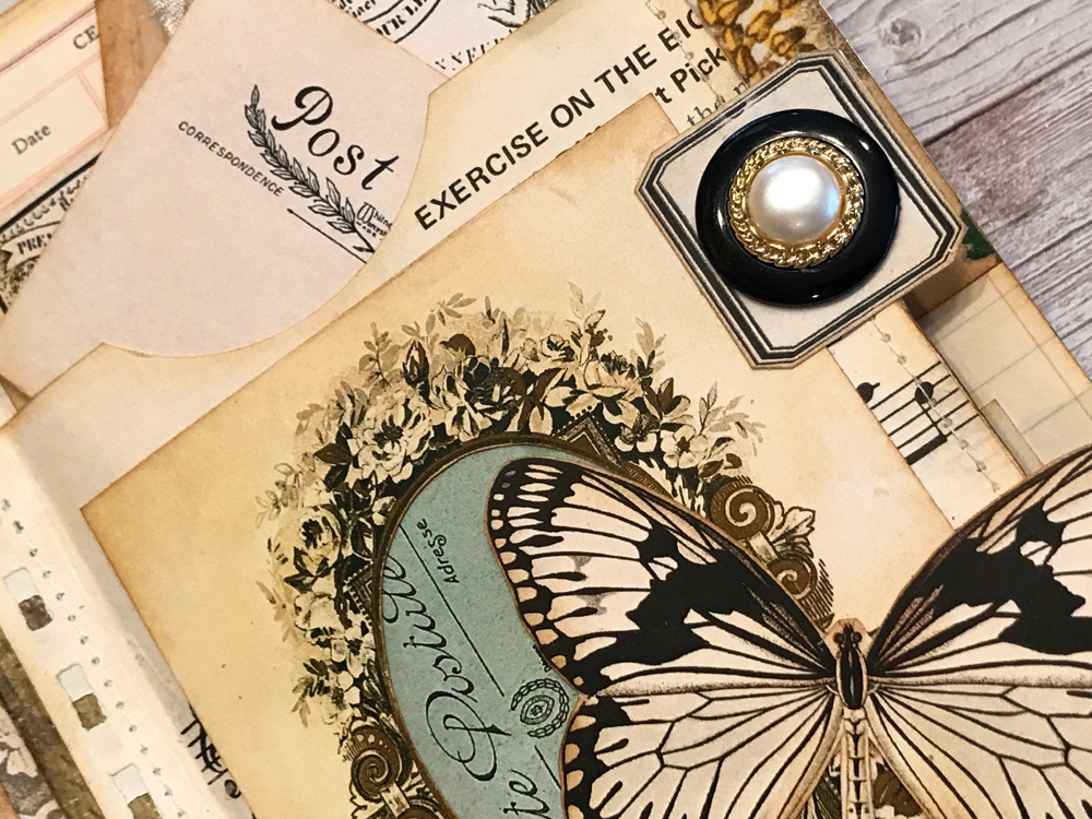 Beautiful Vintage Junk Journal page