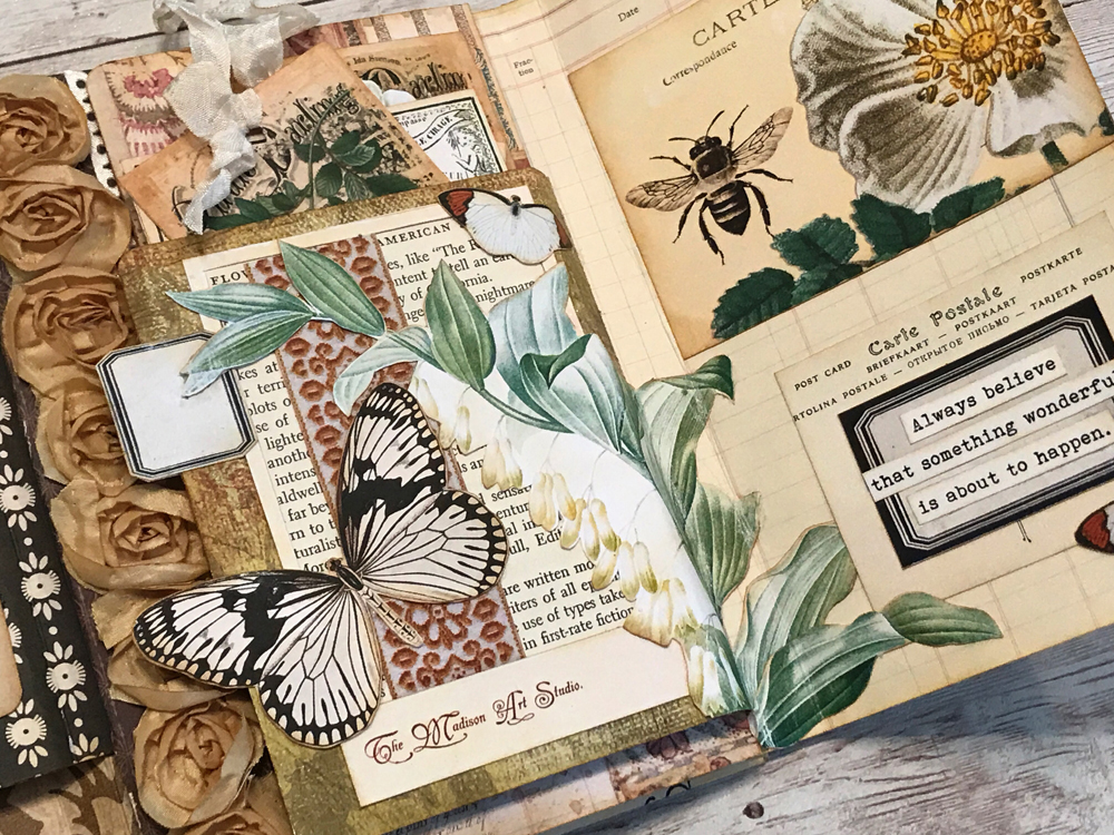 Vintage Butterfly Art Journal