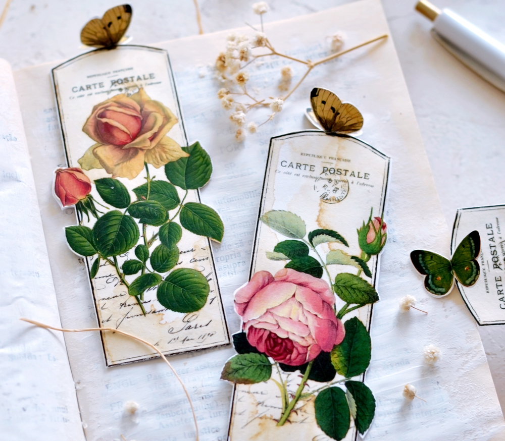 free printable bookmarks with 3d butterflies