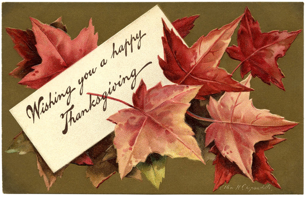 fall leaves thanksgiving greeting image
