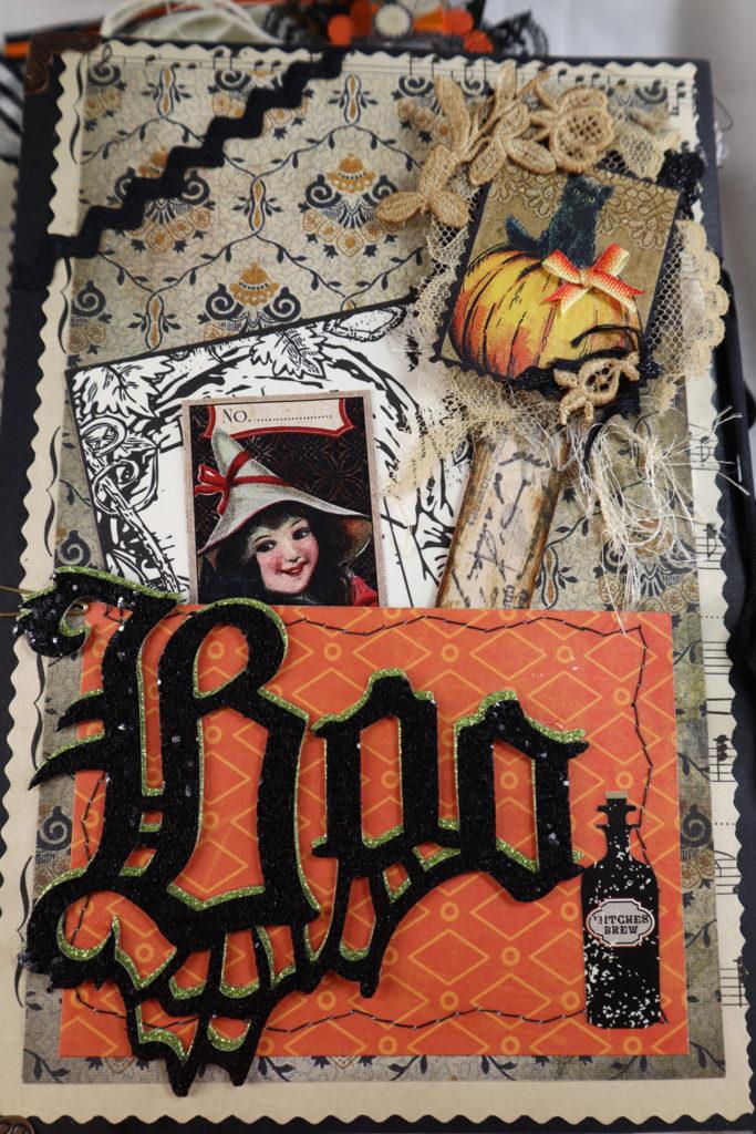 Halloween art journal