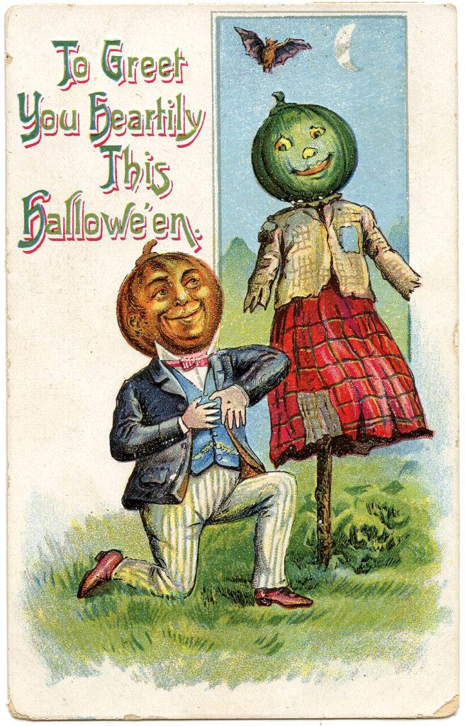 Pumpkin Head Couple Image
